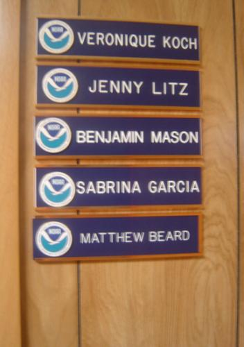 Matt with his name on the office door at NOAA - he was so proud of that